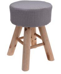 Koopman Taburet 30x40 cm, 4 dřev. nohy, šedá