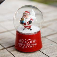 Kaemingk Sněžítko Santa Claus s dárečkem
