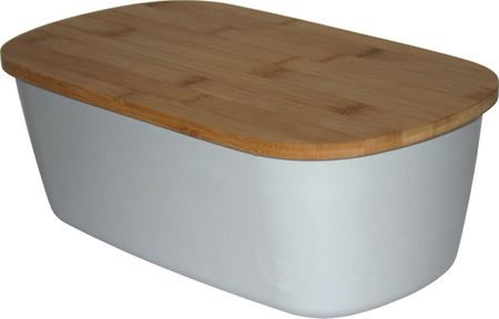 Koopman posoda za kruh z rezalno ploščo 2v1, bambus, siva