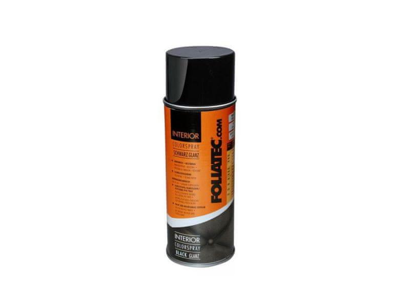Foliatec Černá - lesklá barva na interiér - Interior Color Spray