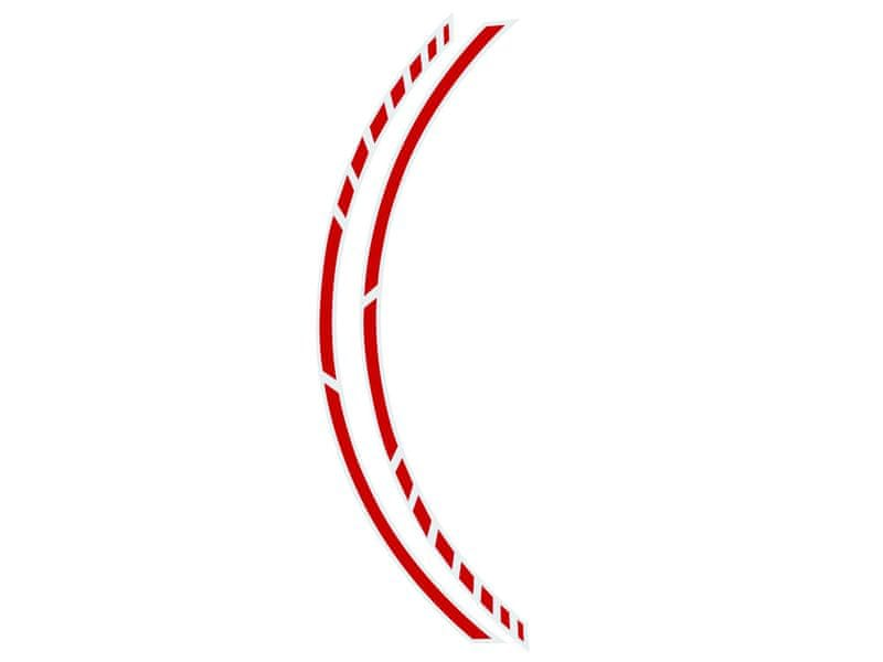 Foliatec Samolepící linka na obvod kola RACING - červená