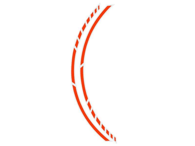 Foliatec Samolepící linka na obvod kola RACING - oranžová
