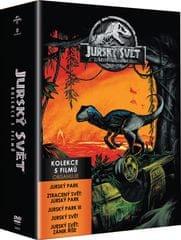 Kolekce JURSKÝ SVĚT: Jurský park 1-3 + Jurský svět 1-2 (5DVD)   - DVD