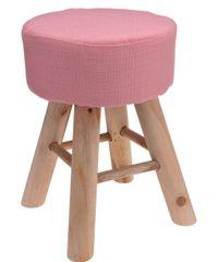 Koopman Taburet 30x40 cm, 4 dřev. nohy, růžová