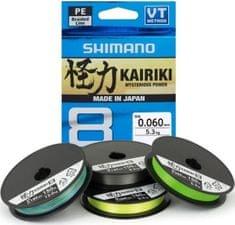Shimano Splétaná Šňůra Kairiki 8 Zelená 150 m