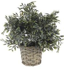 Marex Trade dekoracyjna roślina z plecioną donicą, dekor 6