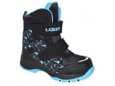 5f9c1af9527 Loap Chlapecké zimní boty Chosee černo-modrá