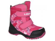 Loap dekliška zimska obutev Chosee, 22 roza
