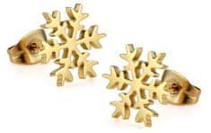 Troli Pozlacené náušnice Sněhová vločka KE-012