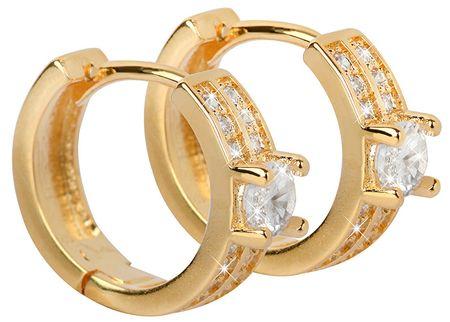 Troli PozłacaneKolczyki z mieniącymi się kryształami
