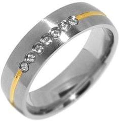Silvego Snubní ocelový prsten pro ženy PARIS RRC2048-Z