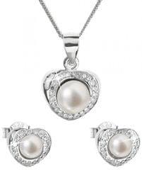 Evolution Group Luxusní stříbrná souprava s pravými perlami Pavona 29025.1 stříbro 925/1000