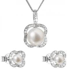Evolution Group Luxusní stříbrná souprava s pravými perlami Pavona 29024.1 stříbro 925/1000