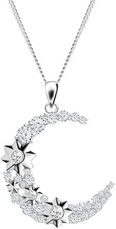 Preciosa Stříbrný náhrdelník Měsíc Orion 5248 00 stříbro 925/1000