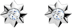 Preciosa Roztomilé stříbrné náušnice Orion 5249 00 stříbro 925/1000