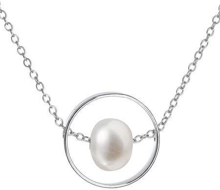 Evolution Group Stříbrný náhrdelník s pravou perlou Pavona 22019.1 stříbro 925/1000