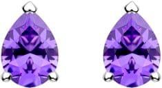 Preciosa Něžné stříbrné náušnice Lyra Violet 5265 56 stříbro 925/1000