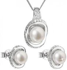 Evolution Group Luxusná strieborná súprava s pravými perlami Pavona 29026.1 striebro 925/1000