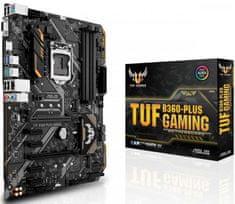 Asus osnovna plošča TUF B360-Plus Gaming, DDR4, USB 3.1 Gen 2, LGA1151, ATX