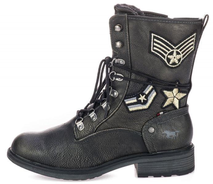 Mustang dámská kotníčková obuv 36 tmavě šedá 9bf31cf716