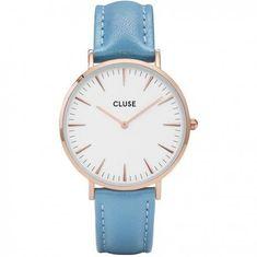 Cluse La Bohème Rose Gold White Retro Blue CL18033 698e776e04