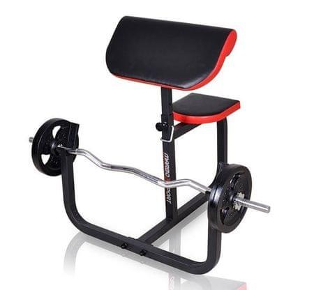 Marbo sport klop bench curl s sedežem in nastavljivim naslonjalom