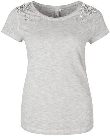 Q/S designed by T-shirt damski 41.803.32.4848.9135 Stone (rozmiar M)