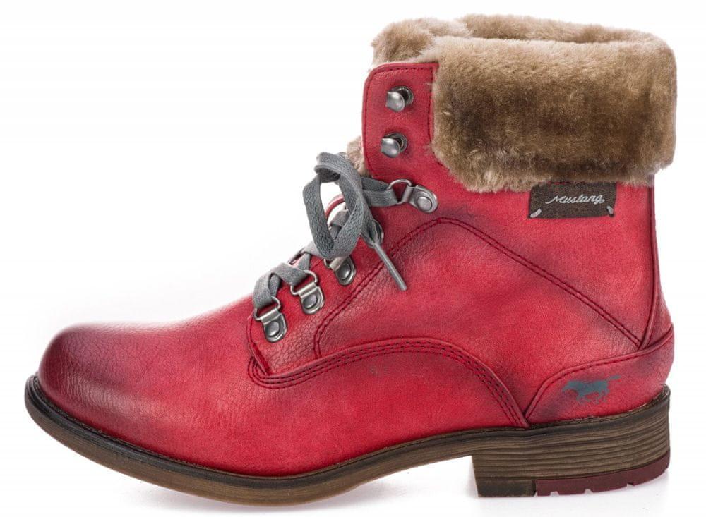 Mustang dámská kotníčková obuv 1295601 40 červená
