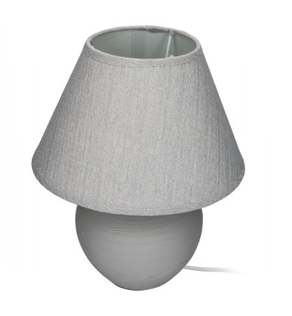 TimeLife Stolní lampa keramická, šedá