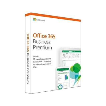 Microsoft Office365BusinessPremium Retail 1Lic, letna naročnina