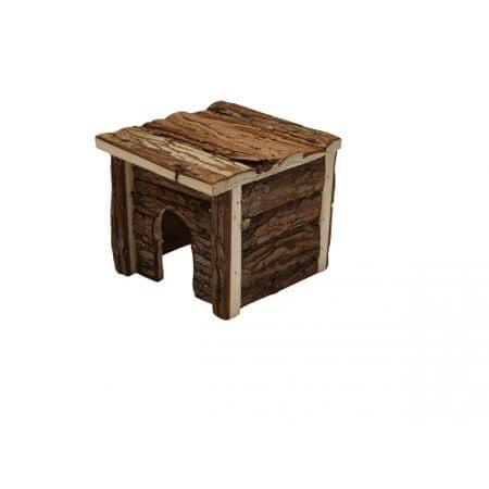 Huhubamboo Domek pro hlodavce plochá střecha S