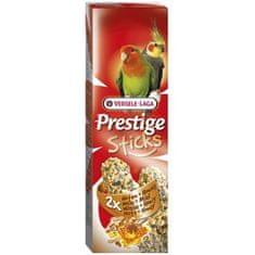 Versele Laga Prestige Sticks tyčinky pro velké papoušky med+ořech 2x70 g