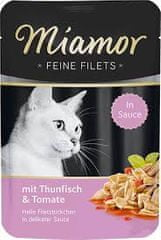 Finnern Kapsička MIAMOR Feine Filets tuňák+rajče v omáčce 100g