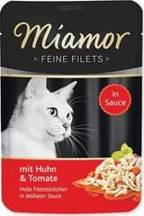 Finnern Kapsička MIAMOR Feine Filets kuře+rajce v omáčce 100g