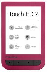 PocketBook elektronski bralnik Touch HD 2, rubinasto rdeč