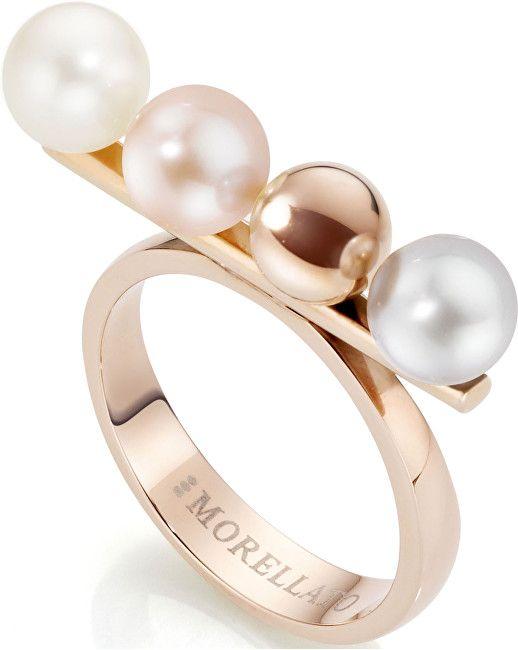 Morellato Ocelový prsten s perlami Lunae Rose SADX05 (Obvod 52 mm)