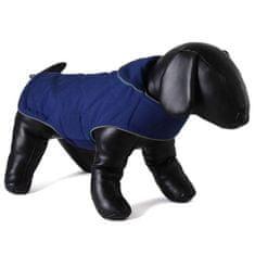 Doodlebone dwustronny płaszcz dla psów Tweedie Blue/Turquoi