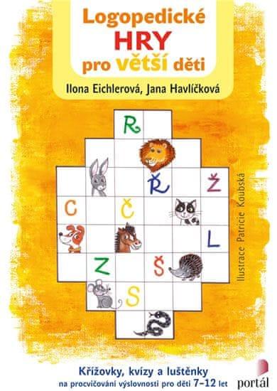 Eichlerová Ilona, Havlíčková Jana,: Logopedické hry pro větší děti - Křížovky, kvízy a luštěnky na p