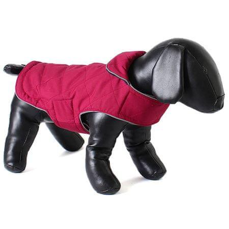Doodlebone Dwustronna kurtka dla psów Tweedie Raspberry/Navy rozm. XS