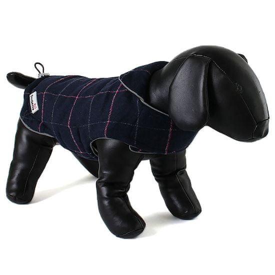 Doodlebone Dwustronna kurtka dla psów Tweedie Raspberry/Navy
