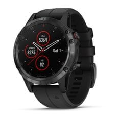 Garmin fénix 5 Plus Silver with Black band