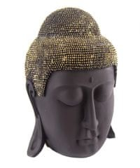 Sifcon Hlava buddha, černozlatá, 27 cm