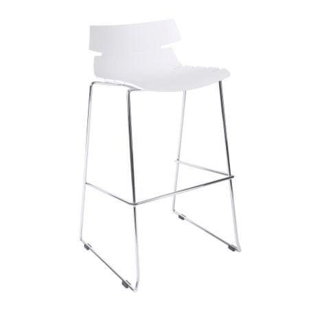 Mørtens Furniture Barová židle Stolen, bílá
