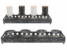 Toro Svícen Antique na 4 svíčky, 40 × 10 cm, kov