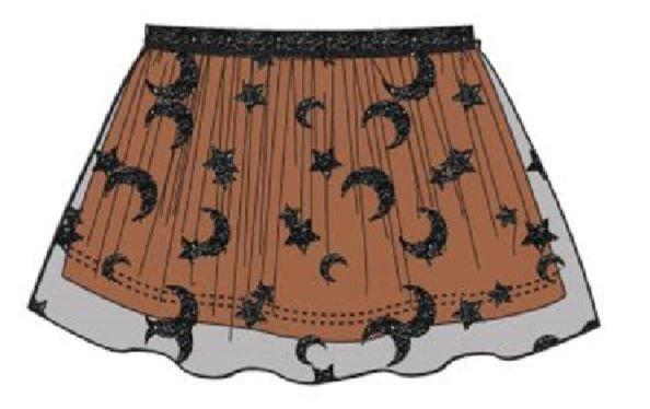 Carodel dívčí sukně 104 černá/oranžová