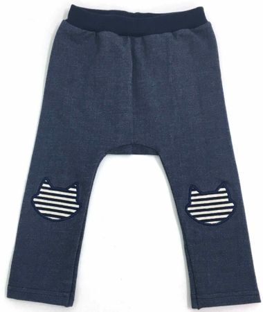 Atticat dziewczęce legginsy Denim 68 - 80 niebieskie