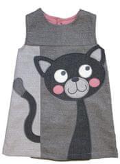 Carodel dekliška obleka s podobo mačke