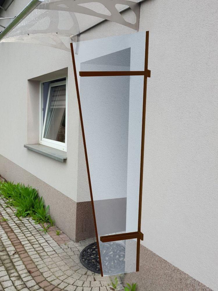 LanitPlast boční stěna LANITPLAST UNI hnědá / PLEXI