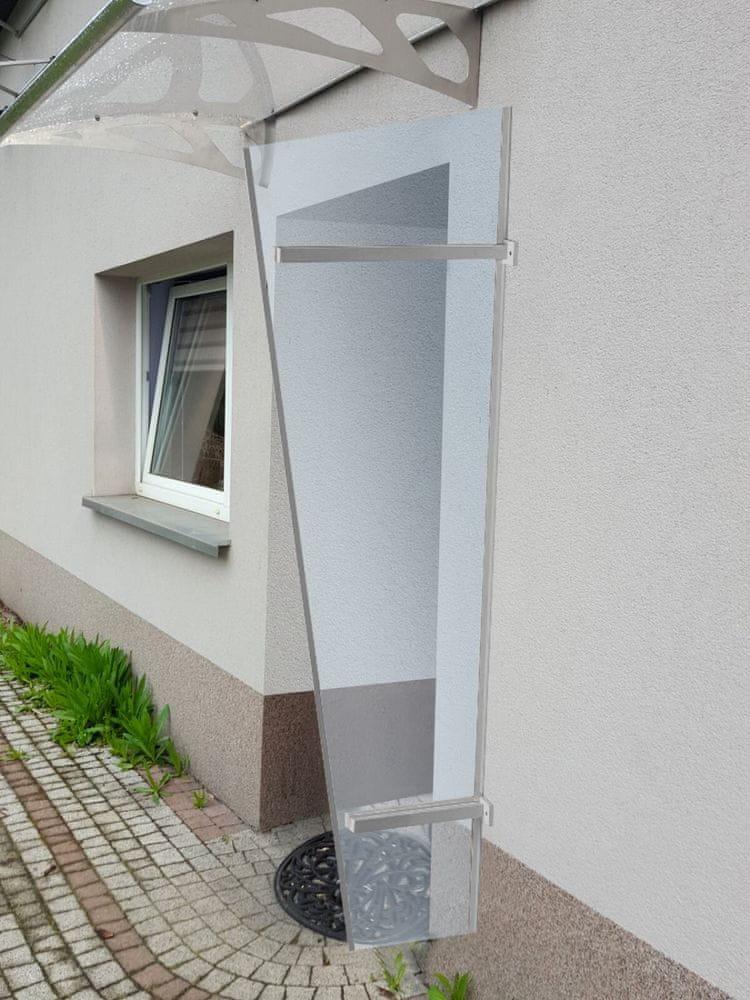 LanitPlast boční stěna LANITPLAST UNI stříbrná / PLEXI