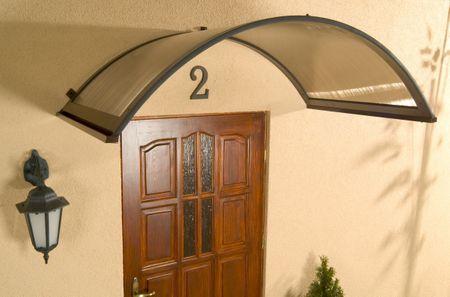 LanitPlast bejárati tető LANITPLAST ONYX 250/75 barna